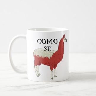 Muggen för den Como Se-llamaen med llamaen Kaffemugg