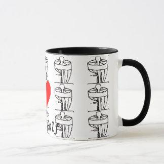 Muggen för kaffe för Golf för I-♥diskett Mugg