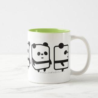 Muggen - snurr boxas pandaen - mer färgar Två-Tonad mugg