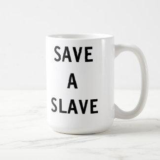 Muggspara ett slav- kaffemugg