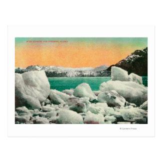 Muir glaciär och isberg i Alaska #1State Vykort