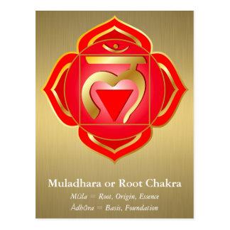 Muladhara eller rotar den Chakra vykortet Vykort
