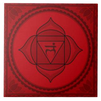 Muladhara eller rotar stora Chakra kvadrerar Stor Kakelplatta