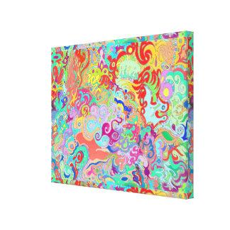 Multicolour djärv organisk bosatt konstdesign för canvastryck