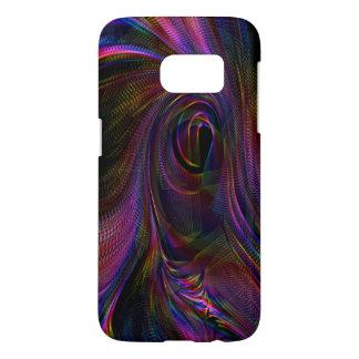 Multicolour fluid strukturSamsung galax S7, fodral Galaxy S5 Skal