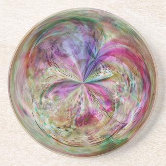 Multifärgadabstrakt bubblar mandalaen underlägg sandsten