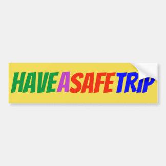 """Multifärgadklistermärken """"ha för en säker resa"""" bildekal"""