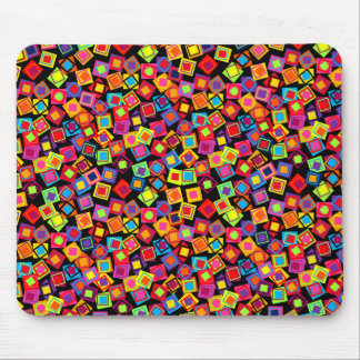 Multifärgadkonfettin kvadrerar mus mattor