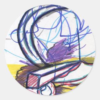 Multiperspective platser av en fantasi runt klistermärke