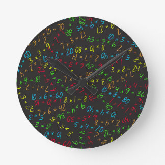 Multiplikation av mångar rund klocka