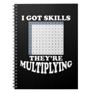 Multiplikation av Mathexpertis Anteckningsbok Med Spiral