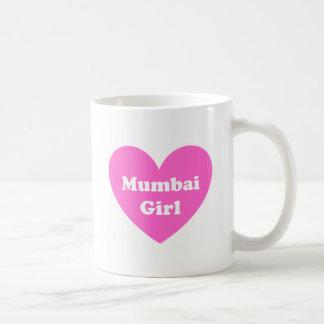 Mumbai flicka kaffemugg