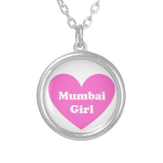 Mumbai flicka silverpläterat halsband