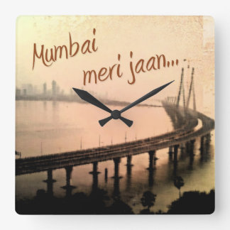 Mumbai havet anknyter, berömden överbryggar, Indie Fyrkantig Klocka
