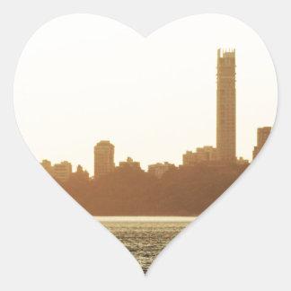 Mumbai Hjärtformat Klistermärke