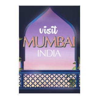 Mumbai Indien vintagestil reser affischen Canvastryck