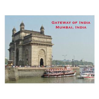 Mumbai Indien vintageturism reser tillfogar Vykort