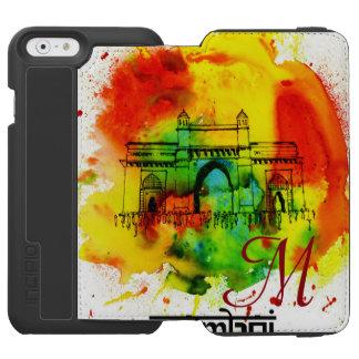 mumbai nyckel av india ljusa vattenfärger