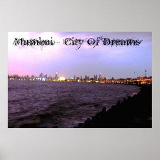 Mumbai - stad av drömaffischen poster