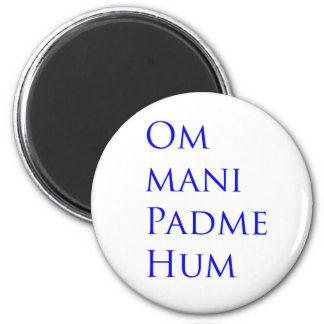 Mummel för Om Mani Padme Magnet Rund 5.7 Cm