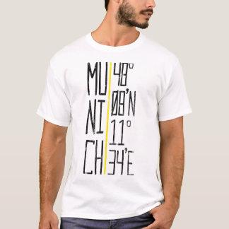 München Munich koordinatutslagsplats, Tyskland T Shirt