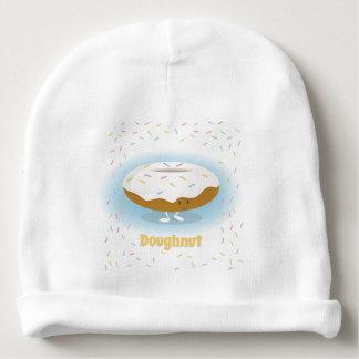 Munk med babyhatten för stänk  