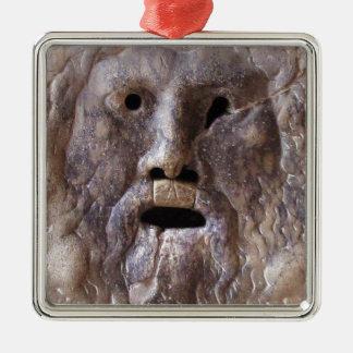 Munnen av sanningsRome skulptur Julgransprydnad Metall