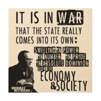 Murray Rothbard Anti-Krig Anti-Statlig en som tror Trätavla
