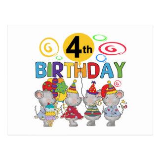 Mus4e födelsedagenT-tröja och gåvor Vykort