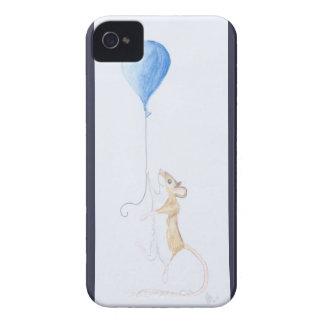 Mus och ballong, akvarellmålning - iPhone 4 iPhone 4 Case-Mate Skal