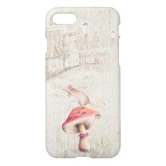 Mus på champinjonfodral iPhone 7 skal