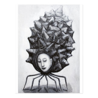 Musa i en snäcka (surrealism) vykort