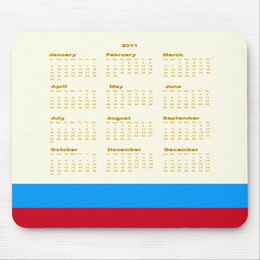 Musen 2011 vadderar kalendern musmattor