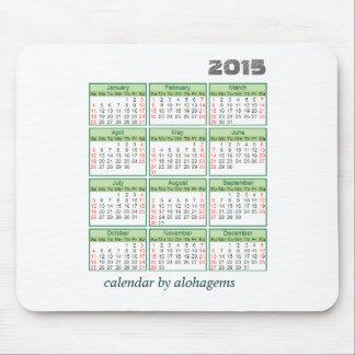 Musen för 2015 kalender vadderar enkel grönt mus matta