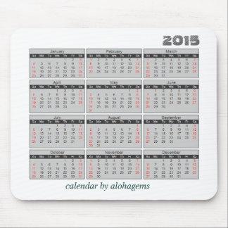 Musen för 2015 kalender vadderar enkla grått mus mattor