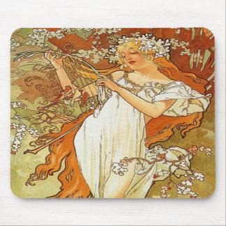 Musen för den art nouveauAlphonse Mucha våren vadd Musmatta
