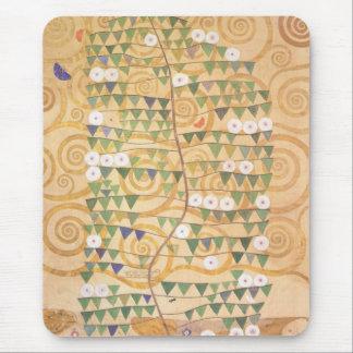 Musen för den Gustav Klimt frislivets träd vaddera Mus Matta