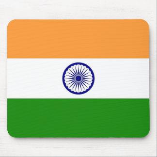 Musen vadderar med flagga av Indien Musmatta