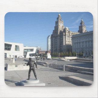 Musen vadderar/musmattan med den Liverpool platsen Mus Mattor