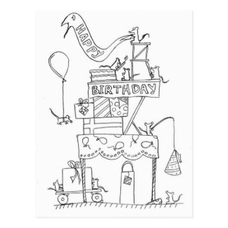 Musfödelsedagfabrik 2 vykort