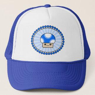 Mushy hatt för blått för PuffsKawaii champinjon Truckerkeps