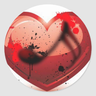 Music In My Heart Sticker Runt Klistermärke