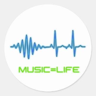 Music=Life klistermärke