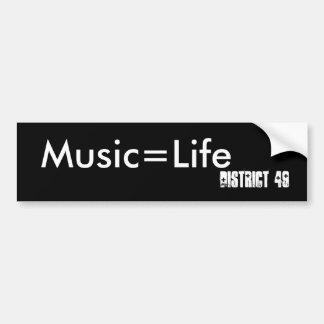 Music=Life område 49 Bildekal