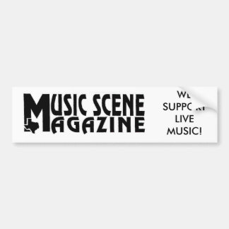 MUSIC-SCENE-LOGO STÖTTAR VI LEVANDE MUSIK! BILDEKAL
