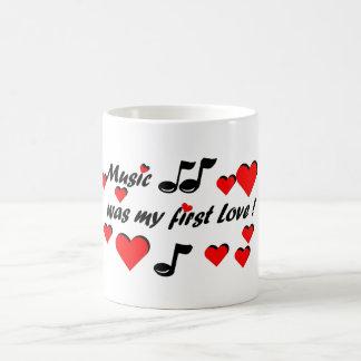 Music was my first Love Kaffemugg