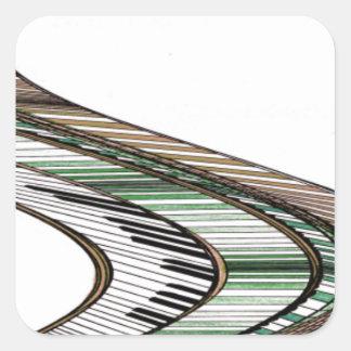 Musica 2 - CricketDiane märkes- saker Fyrkantigt Klistermärke