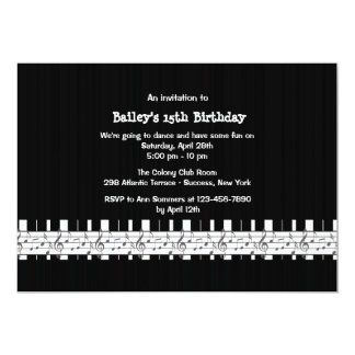 Musically benägen födelsedagsfest inbjudan