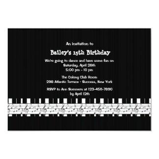 Musically benägen födelsedagsfest inbjudan 12,7 x 17,8 cm inbjudningskort