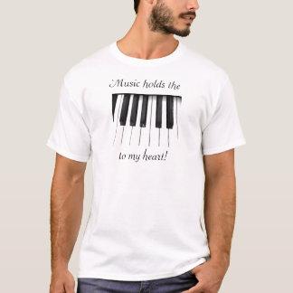 Musik är dem stämm till min hjärta t-shirt